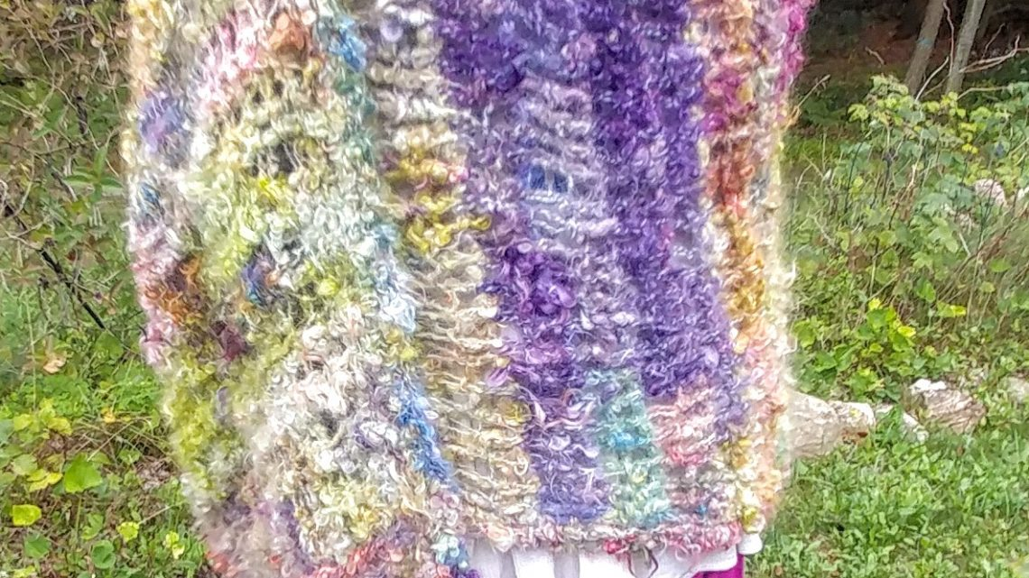 Summer Forest Art Yarn Shawl